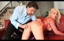 Submissive Blonde Wife Butt Fucked