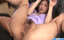 2 tiny cocks for a hot Japanese girl