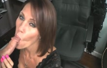 MILF enjoys sucking a small dick