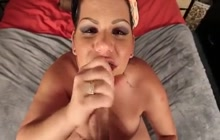 Angelina Castro sucks a small cock