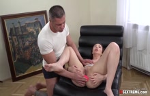 Horny Ann prepares her tight asshole for big dick
