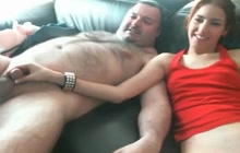 Older dude with tiny penis fucking a hot chick