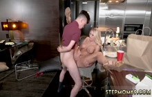 Busty stepmom gets her pussy smashed by stepson